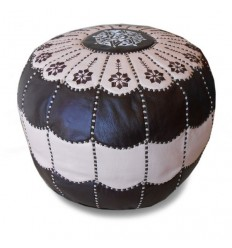 https://babouches.net/gb/chocolate-and-cream-leather-pouffe-moroccan-arch-design-pouf-leather-ottoman-poof-pouffes-hassock-footstool
