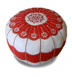 https://babouches.net/gb/moroccan-pouf-leather-ottoman-poof-pouffe-pouffes-hassock-footstool-beanbag-red-and-white-leather-pouffe-moroccan-arch-design