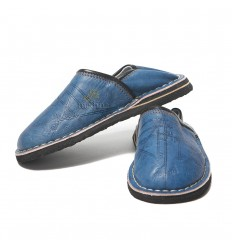 Touareg child mixed denim blue slippers slipper comfortable and solid robust Moroccan slippers