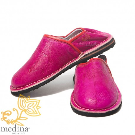 Slipper child Touareg mixed color fuschia slippers comfortable and strong sturdy slippers