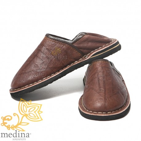 Slipper child Touareg mixed brown slippers comfortable and strong sturdy slippers