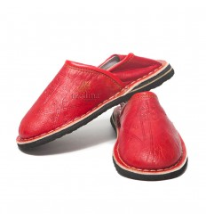 Touareg mixed child red slippers slipper comfortable and solid robust Moroccan slippers