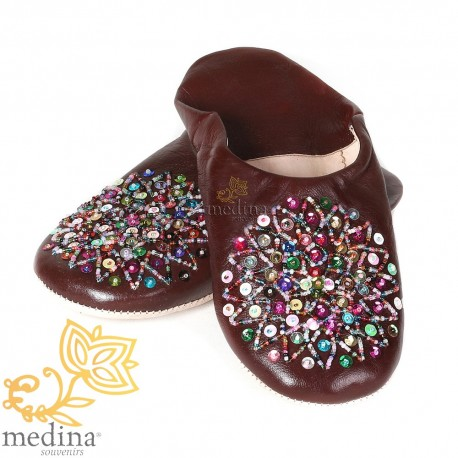 Genuine leather Brown Essaouira, Moroccan babouche slipper