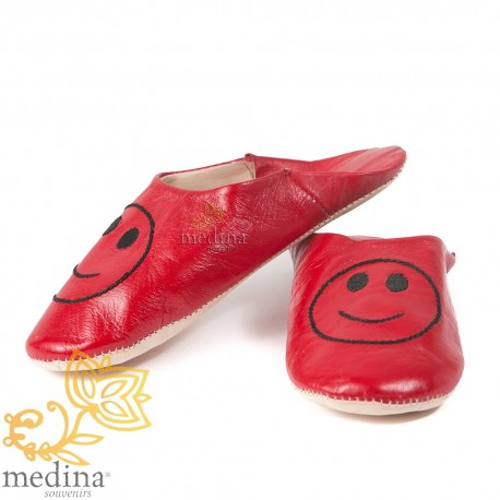 Slipper Moroccan red smile