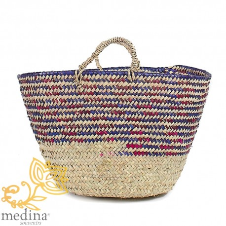 Basket Moroccan design with handles string tressee