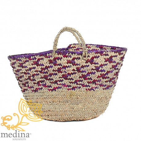 Basket Moroccan design with handles string tressee to unique design