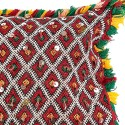 Hand woven with silver cushion trimmings vintage Kilim cushion