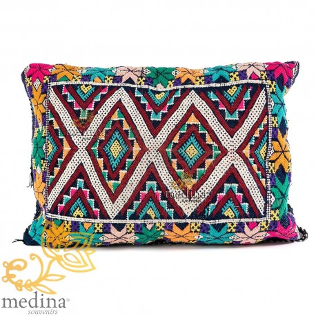 Vintage pillow hand woven
