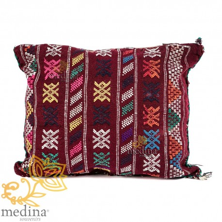 Vintage cushion hand cushion in Virgin wool in warm and welcoming colours woven