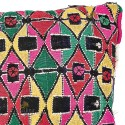 Vintage cushion cushion kilim multicolor hand woven