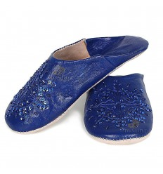 Slipper Moroccan original dark blue Paloma