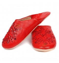 Slipper Moroccan original red Paloma