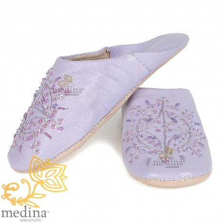 Slipper Moroccan original purple Paloma