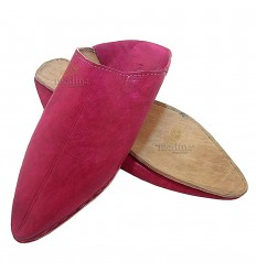Slipper traditional fushia, pointed out Marrakech slipper