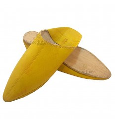 Yellow traditional slipper, slipper pointed out Marrakech