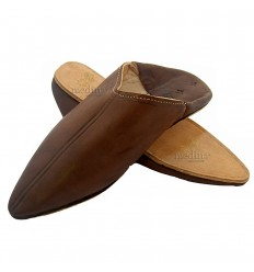 Bruin traditionele slipper, slipper gewezen Marrakech