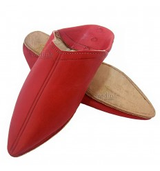 Red traditional slipper, slipper pointed out Marrakech
