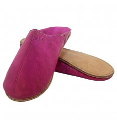 Slipper ronde traditionele fushia, slipper uit Marrakech