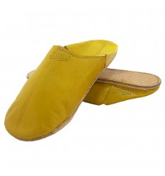 Gele traditionele slipper, slipper ronde uit Marrakech