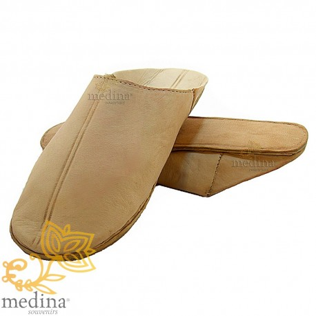 Natural traditional slipper, slipper round out Marrakech