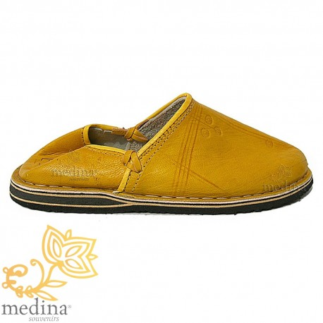 Slipper Tuareg man and woman yellow