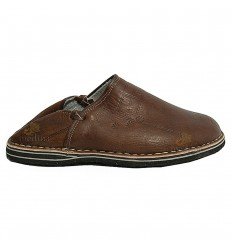 Slipper man and woman Brown Touareg