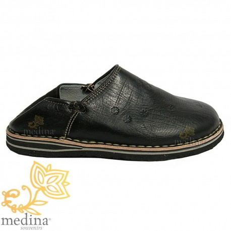 Tuareg man and woman color black slipper