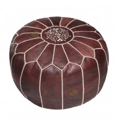 https://babouches.net/gb/moroccan-brown-leather-white-stitched-pouffe-moroccan-design-pouf-leather-ottoman-poof-hassock-footstool-beanbag-leather-pillow