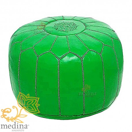 Pouf design green Moroccan leather neon beanbag Chair real leather handmade